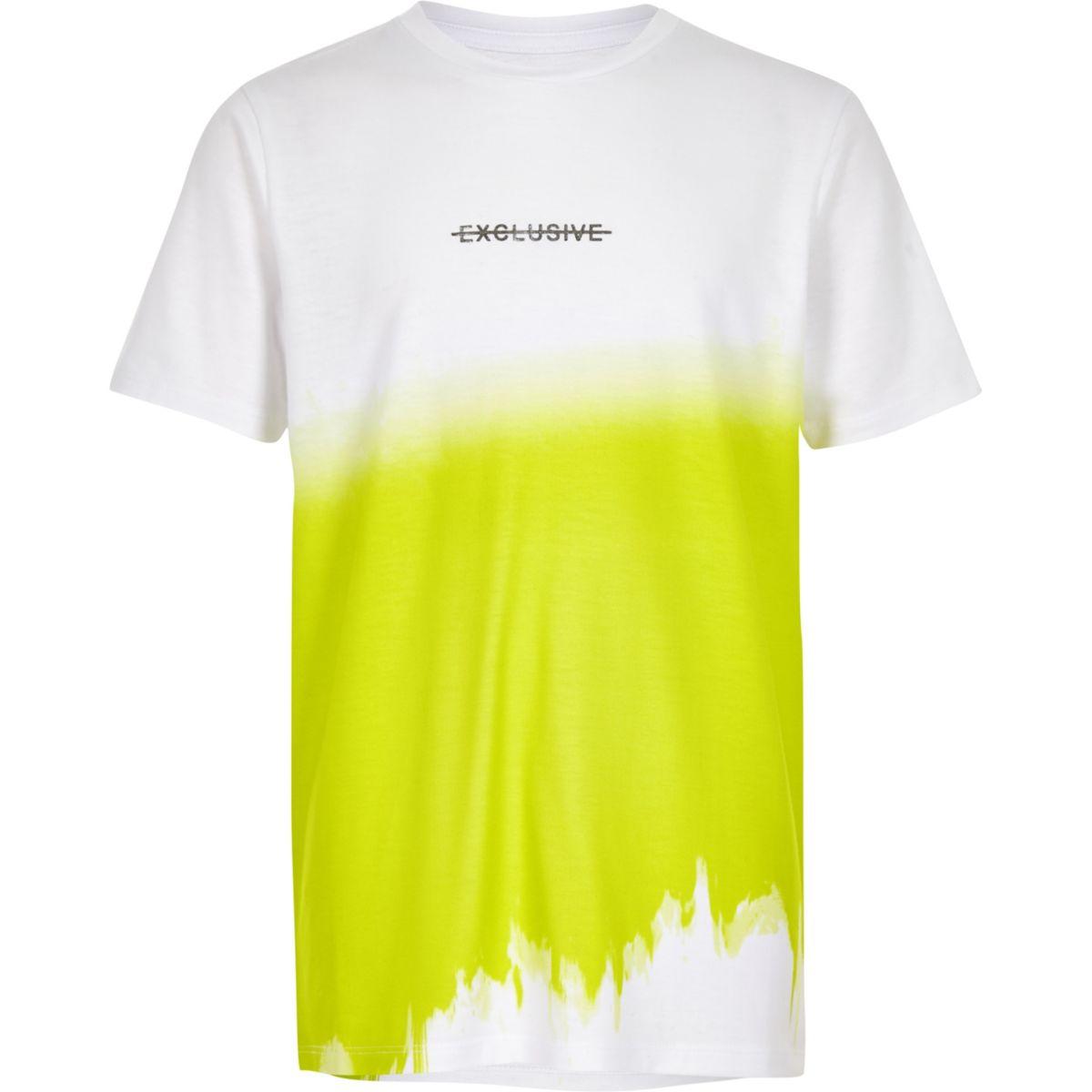 Boys white 'exclusive' print T-shirt