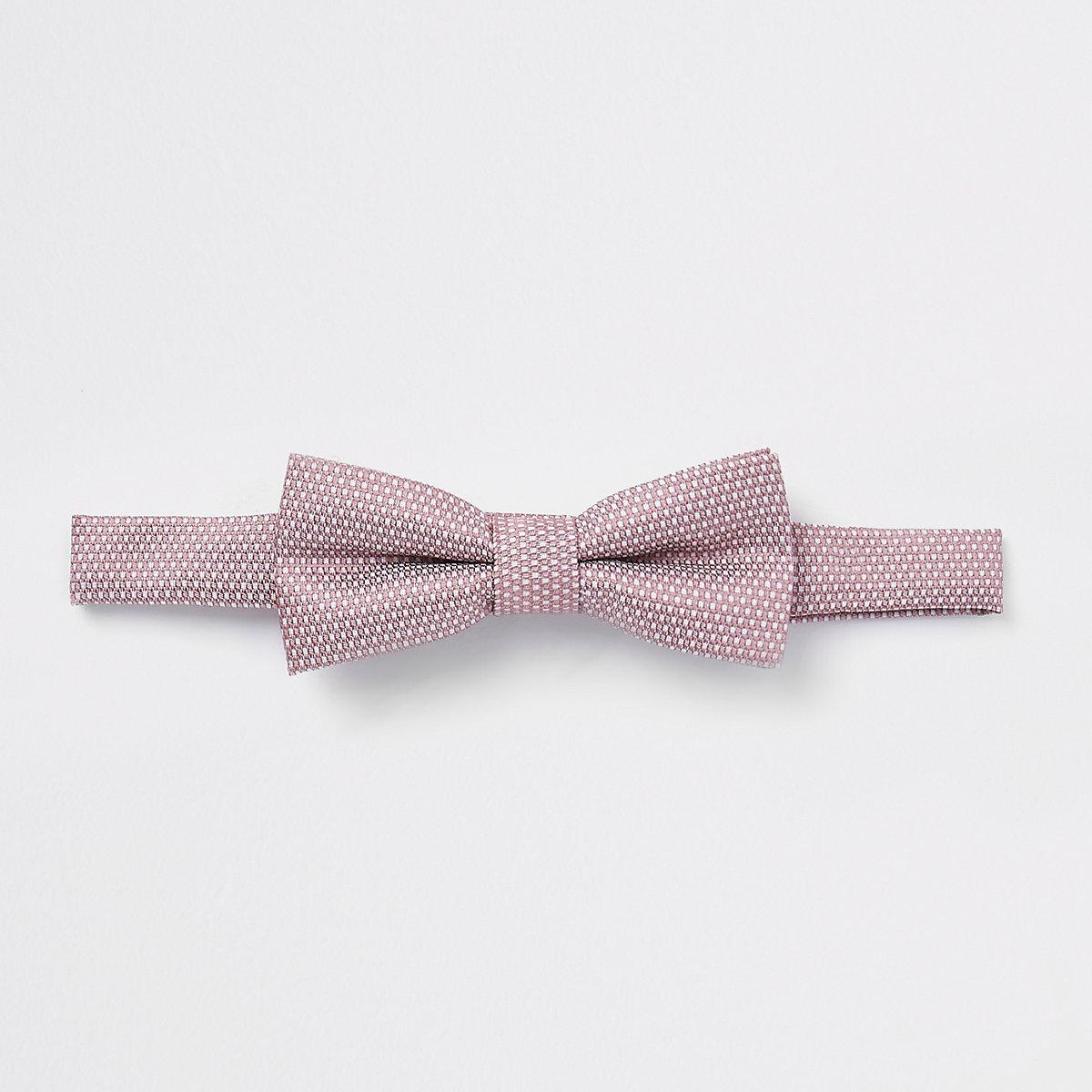 Boys pink jacquard bow tie