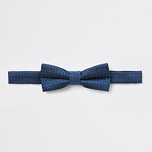 Marineblaue Jacquard-Fliege