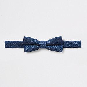 Nœud papillon en jacquard bleu marine pour garçon