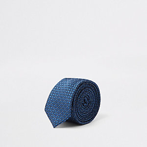 Marineblaue Jacquard-Krawatte