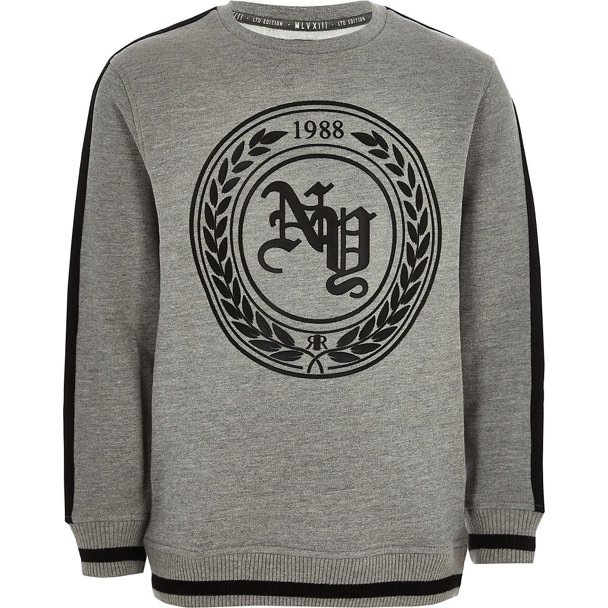 Graues Sweatshirt mit Print