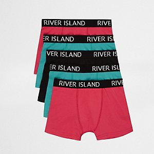Multipack boxershorts in verschillende kleuren met RI-logo voor jongens