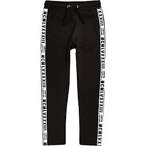 Pantalon de jogging noir avec bandes latérales « Limited Edition » garçon