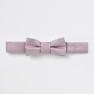 Mini - Roze jacquard vlinderdas voor jongens
