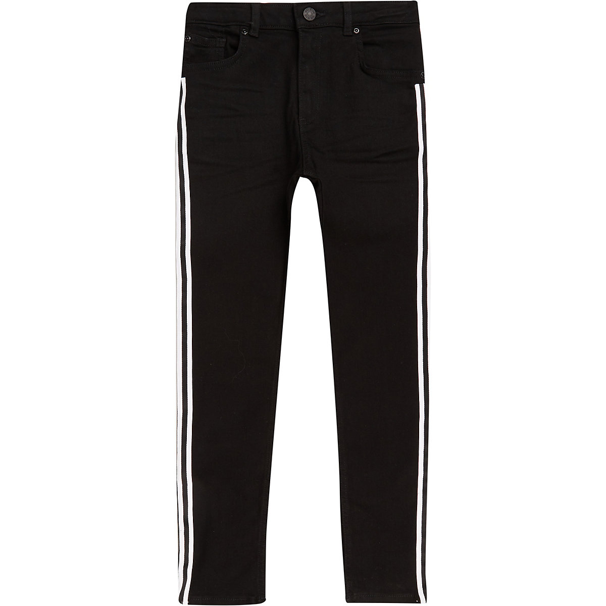 Boys black Sid tape skinny jeans