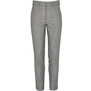 Mini - Sid - Zwarte skinny jeans met biezen voor jongens