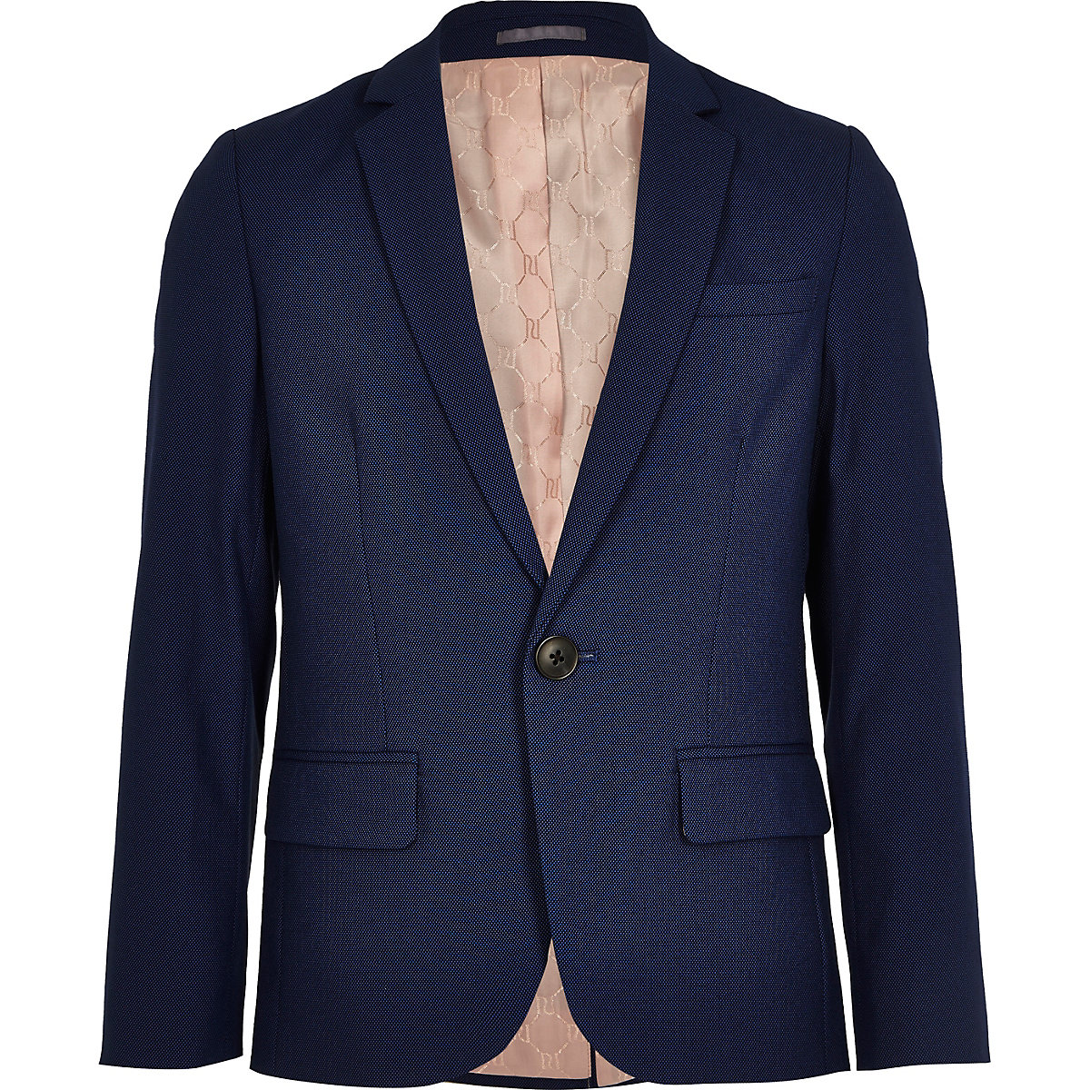 Boys blue suit blazer jacket