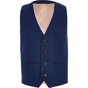 Boys blue suit waistcoat