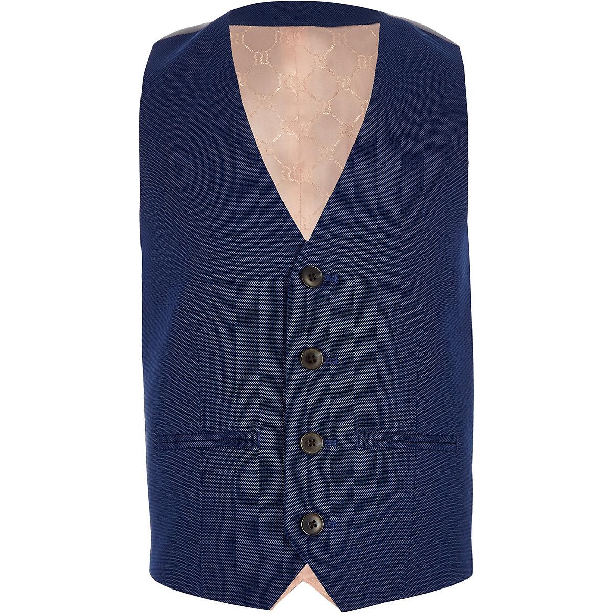 Boys blue suit vest
