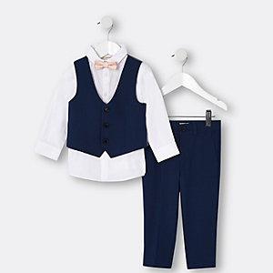 Blaues Anzugs-Set