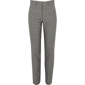 Grijze geruite pantalon voor jongens