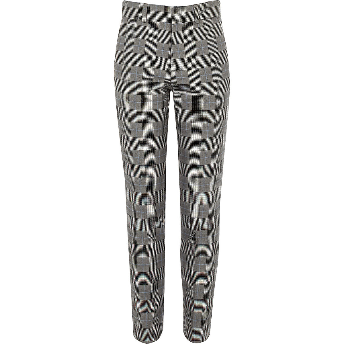 Boys grey check suit pants