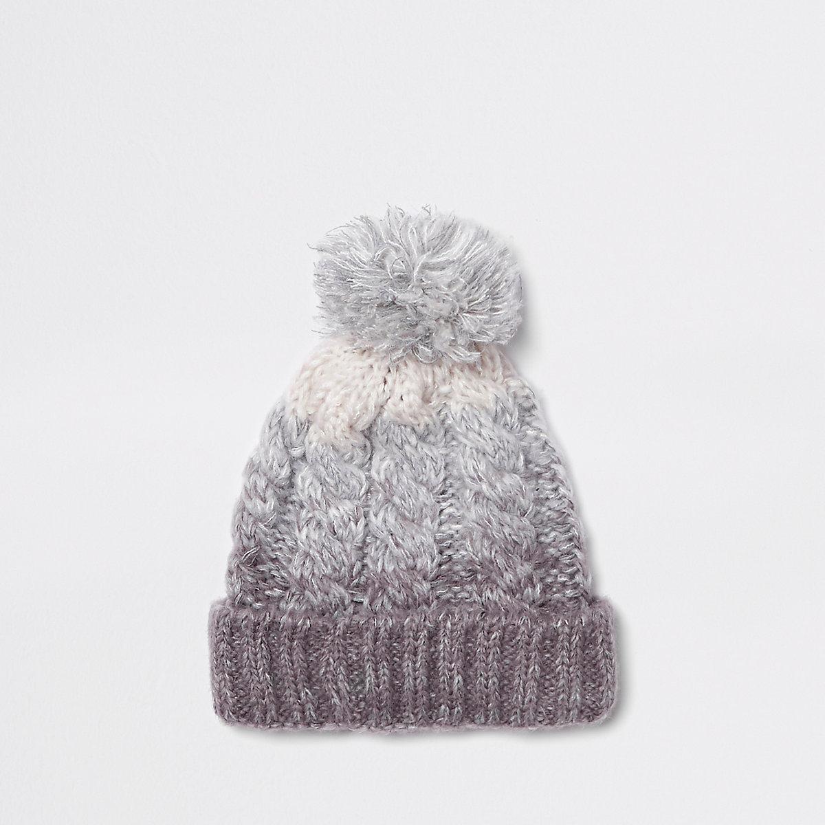 ... Ensemble chapeau et écharpe tube gris effet dégradé pour enfant ... c300fbafcac