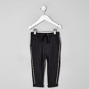Pantalon à rayures gris à bandes latérales mini garçon