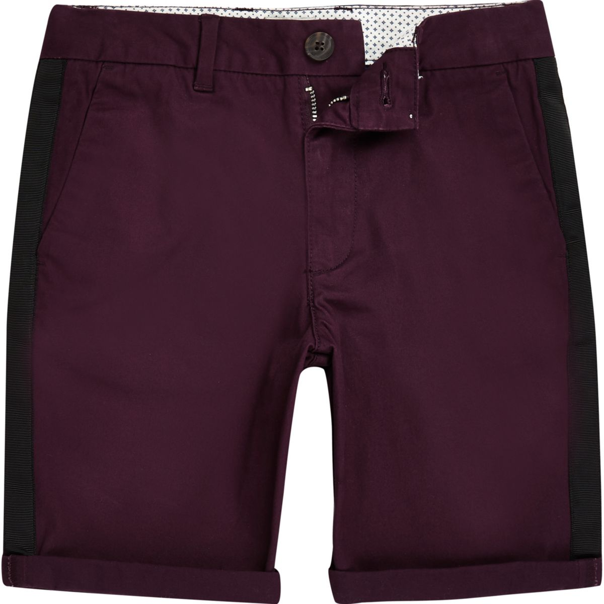 Boys purple Dylan tape chino shorts