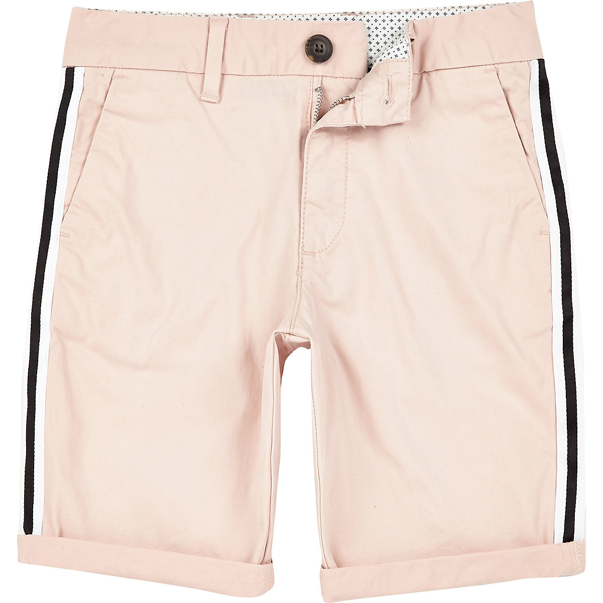 Boys pink Dylan tape chino shorts