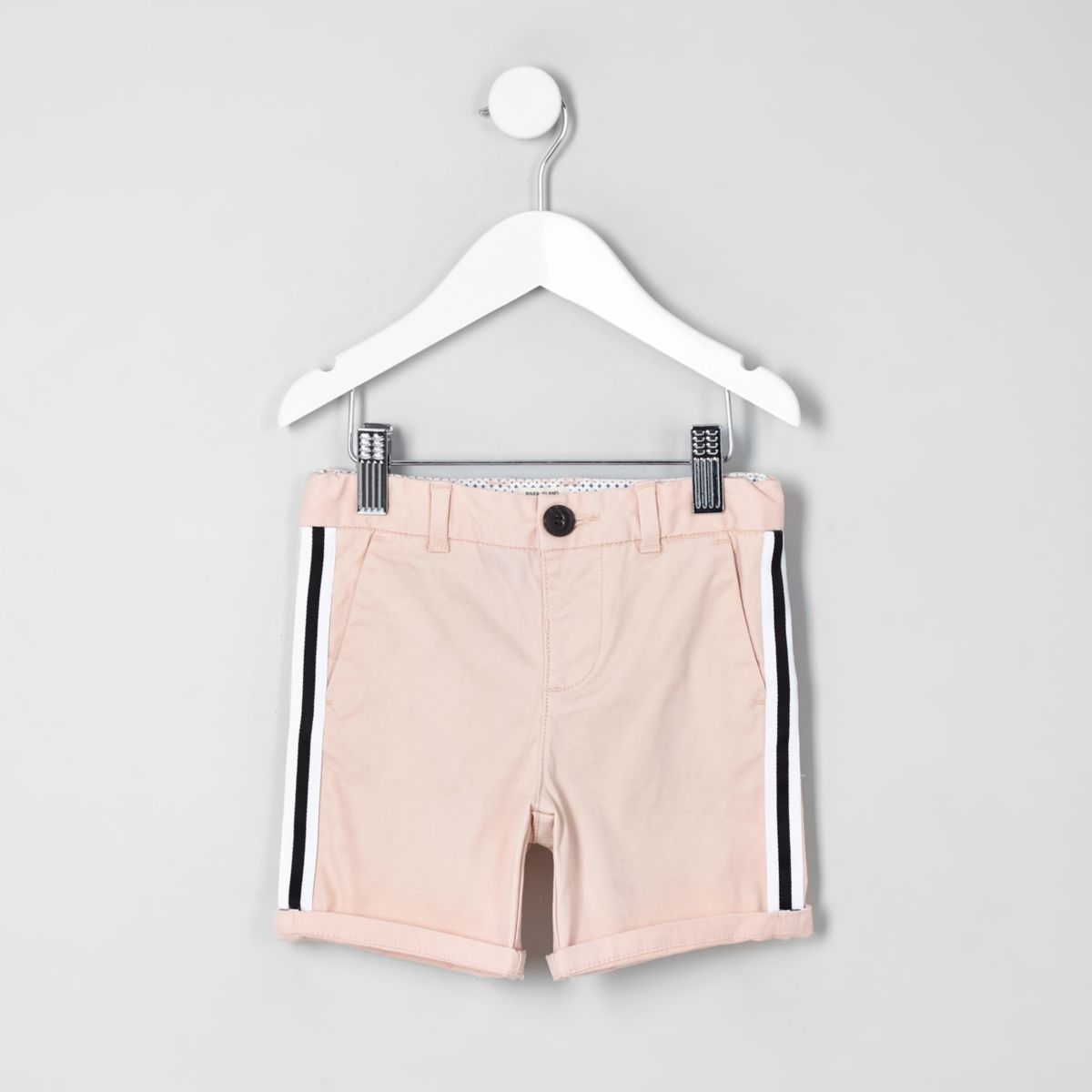 Mini boys pink Dylan tape chino shorts