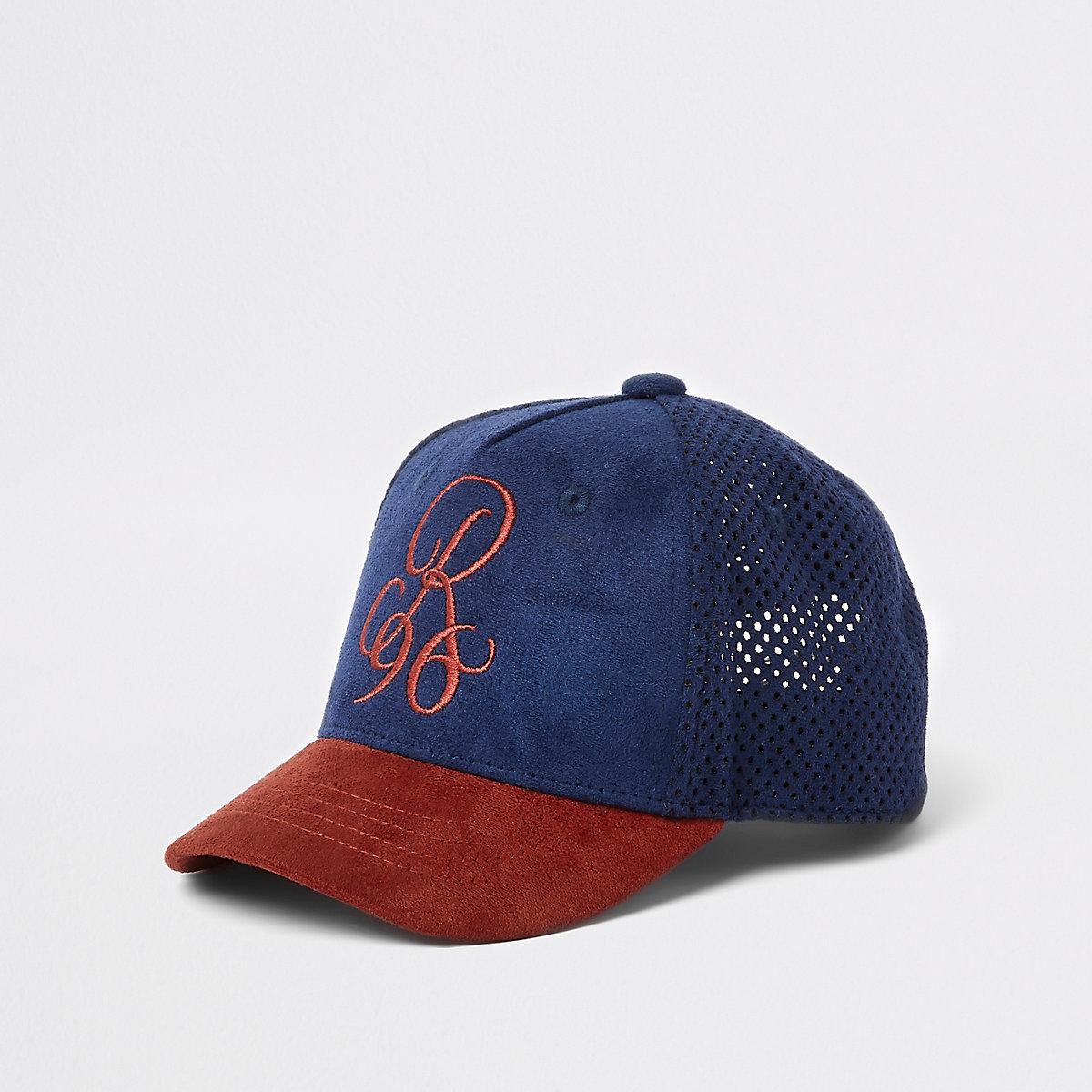 Mini boys dark red 'R96' suedette cap