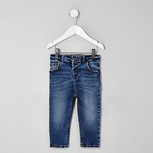 Mini boys mid blue wash Sid skinny jeans