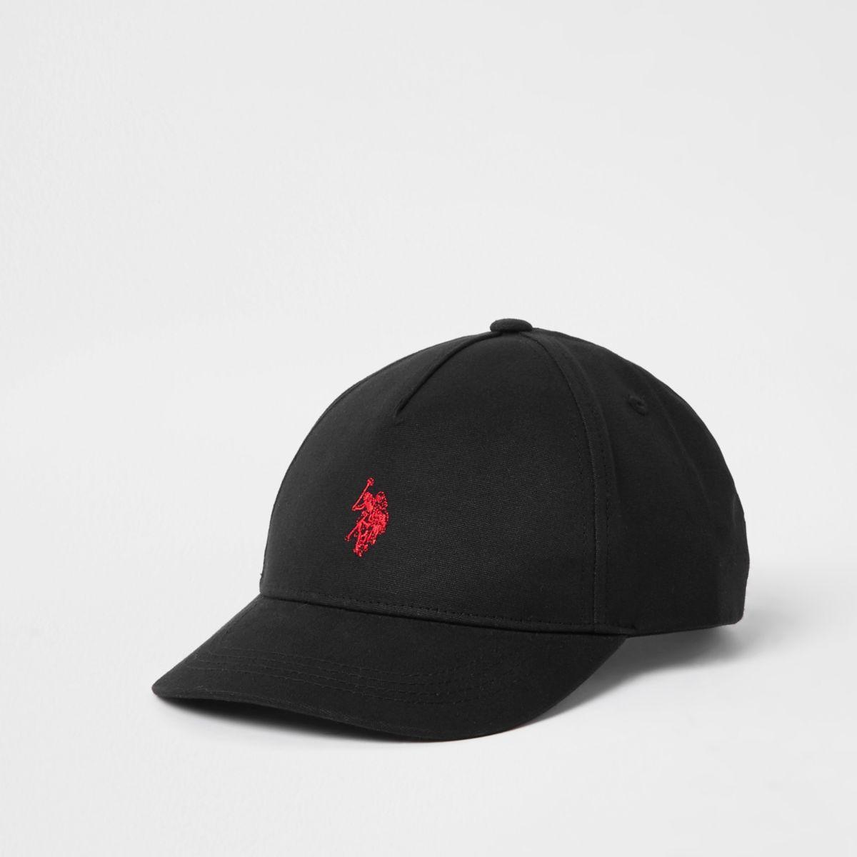 Boys black U.S. Polo Assn. cap