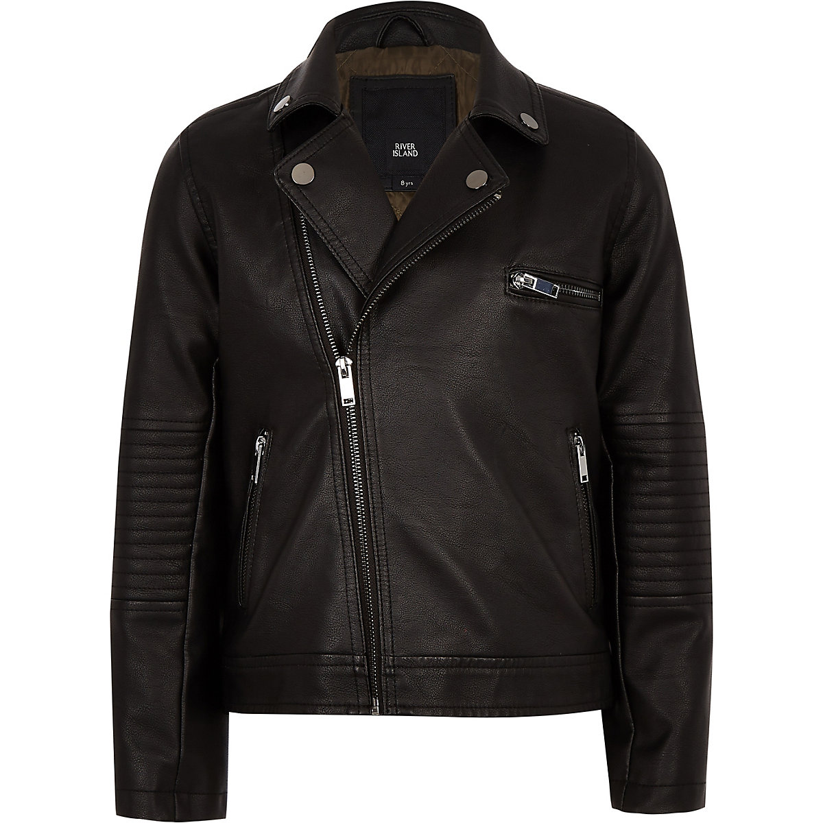 Boys faux leather biker jacket