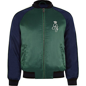 Boys navy sport bomber jacket
