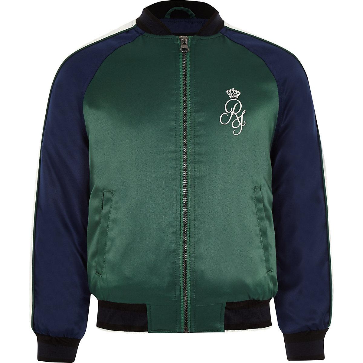 Boys navy sport bomber jacket
