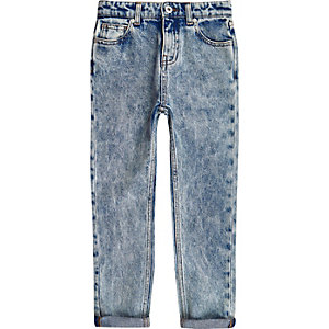 Boys RI Studio blue acid wash jeans