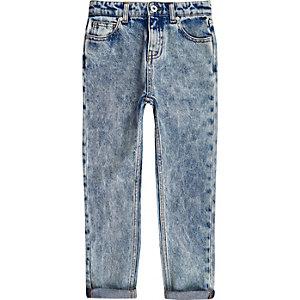 RI Studio - Blauwe jeans met acid wash voor jongens