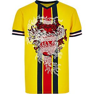 RI Studio - Geel T-shirt met print voor jongens