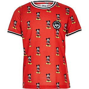 Boys red Hype Mickey Mouse T-shirt