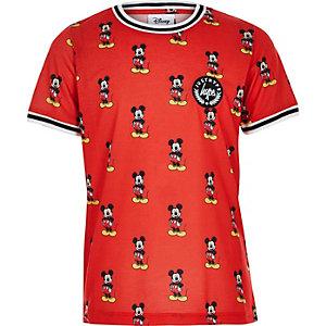 Hype - Rood T-shirt met Mickey Mouse-print voor jongens