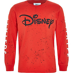 Hype – Disney – T-shirt à éclaboussures rouge pour garçon