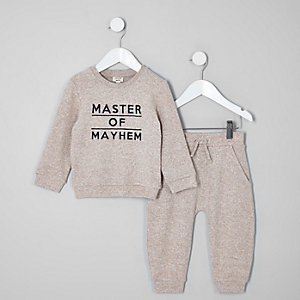 Ensemble «master of mayhem» gris mini garçon