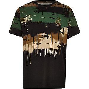 T-shirt camouflage effet dégoulinant pour garçon