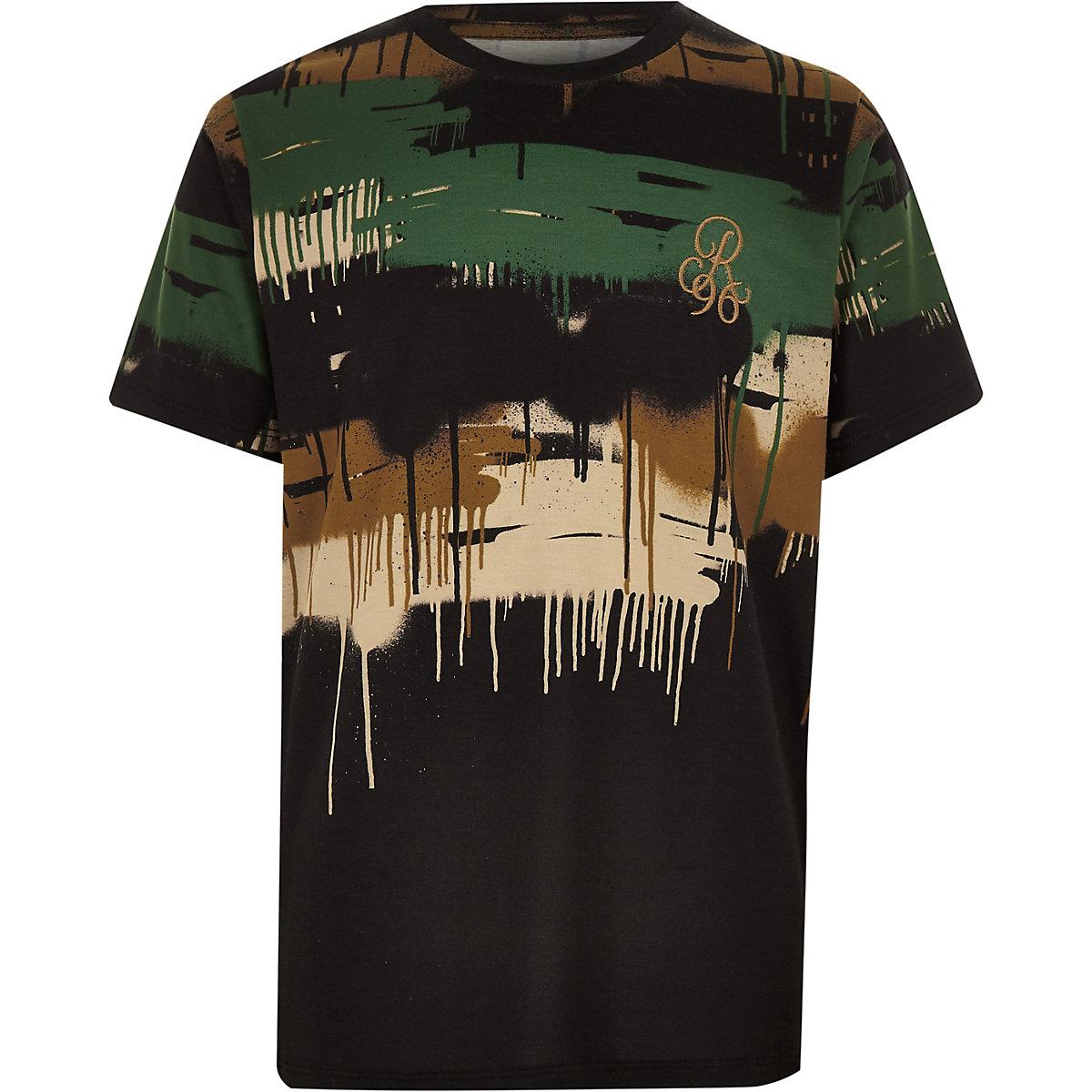 Boys camo drip T-shirt