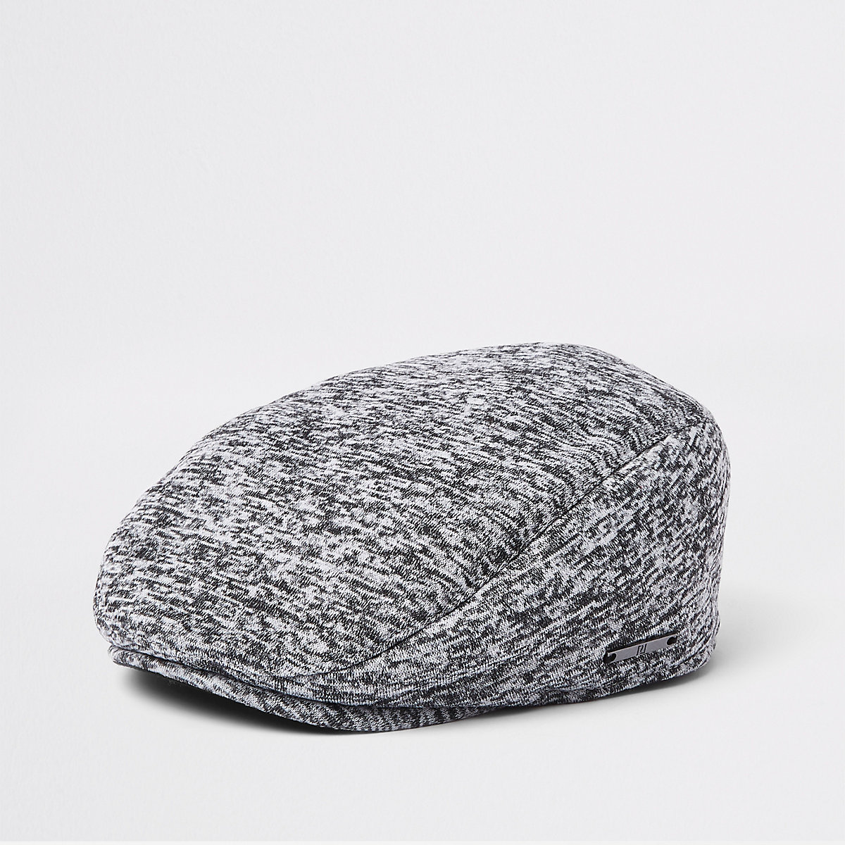 Mini boys grey jersey flat peak cap