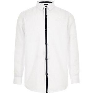 Boys white RI crest shirt