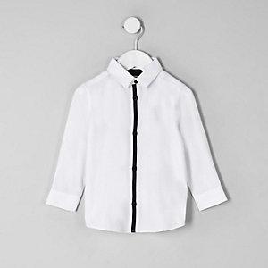 Mini boys white RI crest shirt