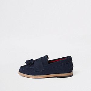 Mini - Marineblauwe loafers met kwastjes voor jongens