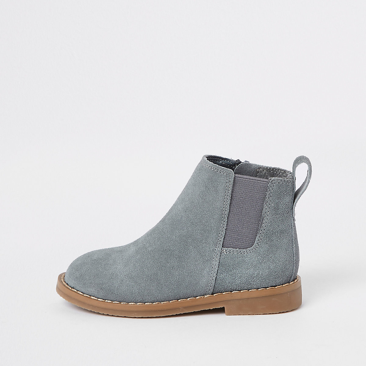 Mini boys grey suede chelsea boots