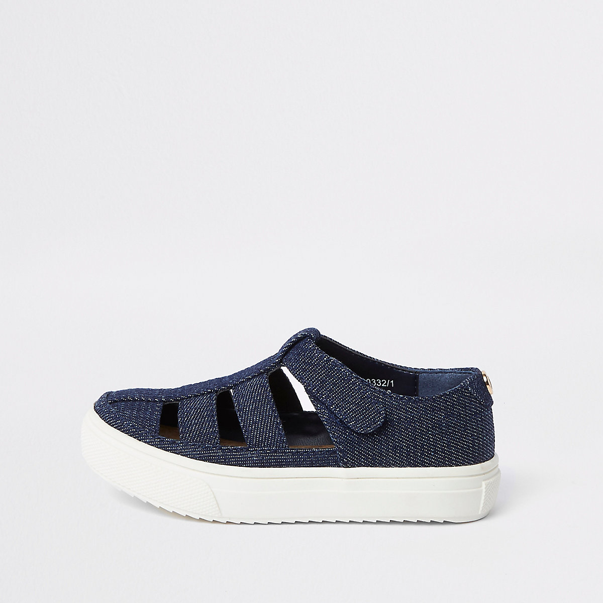 Mini boys denim caged sandal
