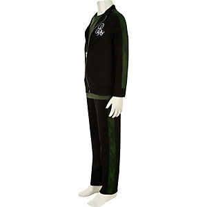 Boys black 'R96'  three piece tracksuit