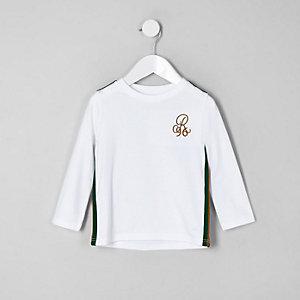 Mini boys white 'R96' long sleeve T-shirt