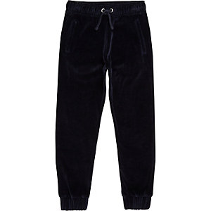 Pantalon de jogging en velours bleu marine pour garçon