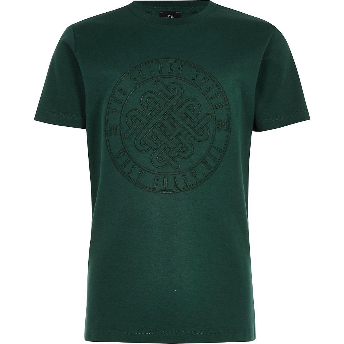 Boys green 'Golden state' T-shirt