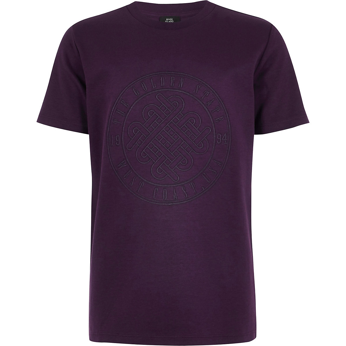 Boys purple 'Golden state' T-shirt