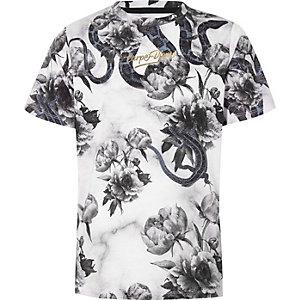 T-shirt «Carpe Diem» à imprimés variés noir pour garçon