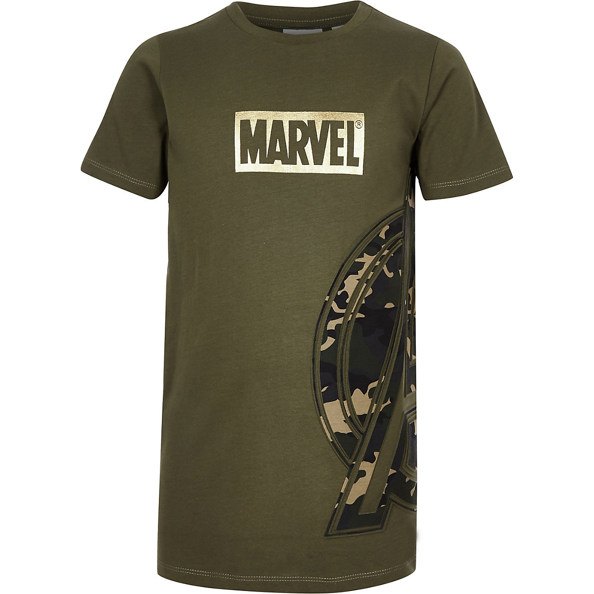 Boys khaki Marvel Avengers camo T-shirt